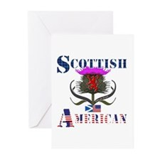 Scottish American Thistl Greeting Cards (Pk of 10)