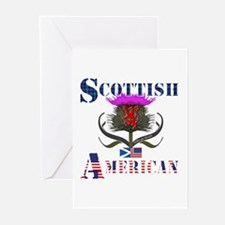Scottish American Thistl Greeting Cards (Pk of 10)