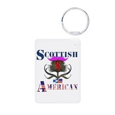 Scottish American Thistle Aluminum Photo Keychain