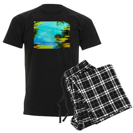 Beautiful summer day Men's Dark Pajamas