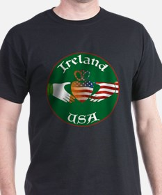 Ireland USA Connection Claddagh T-Shirt