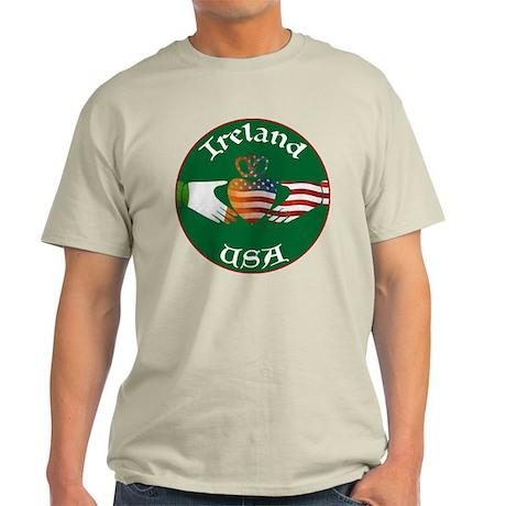 Ireland USA Connection Claddagh Light T-Shirt