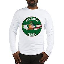 Ireland USA Connection Claddagh Long Sleeve T-Shir