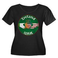 Ireland USA Connection Claddagh T