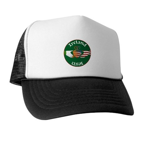 Ireland USA Connection Claddagh Trucker Hat