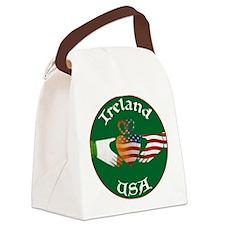 Ireland USA Connection Claddagh Canvas Lunch Bag