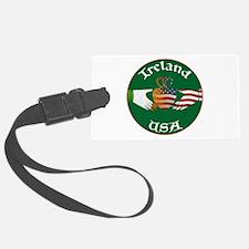 Ireland USA Connection Claddagh Luggage Tag