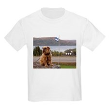 Brussels Griffon By the River Kids T-Shirt