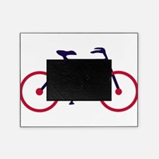 Navy Blue and Red Cycling Picture Frame