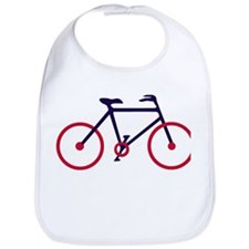 Navy Blue and Red Cycling Bib