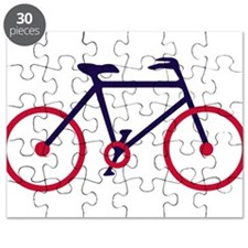 Navy Blue and Red Cycling Puzzle