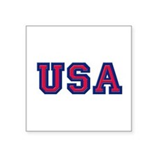 "USA Logo Square Sticker 3"" x 3"""