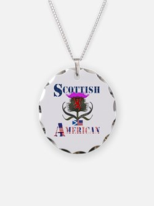 Scottish American Thistle Necklace