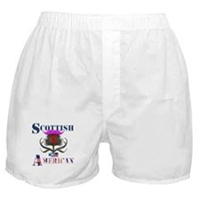 Scottish American Thistle Boxer Shorts