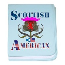 Scottish American Thistle baby blanket