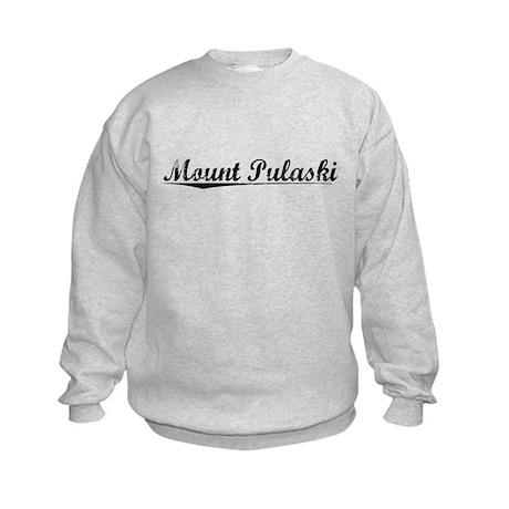 Mount Pulaski, Vintage Kids Sweatshirt