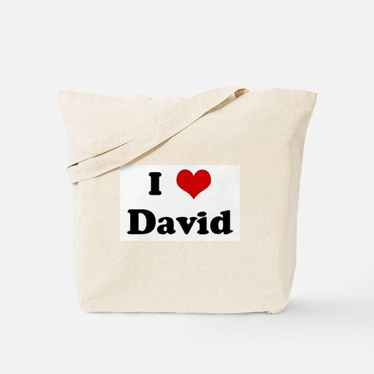 I Love David Tote Bag