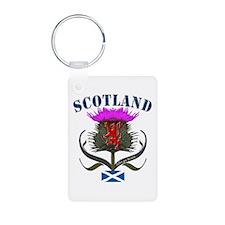 Scottish Canadian Thistle Aluminum Photo Keychain
