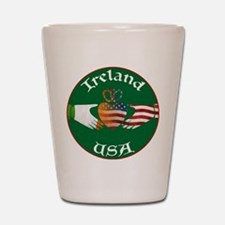 Ireland USA Connection Claddagh Shot Glass