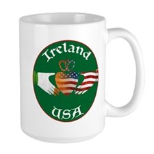 Ireland USA Connection Claddagh Mug