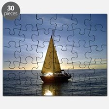 Sunset Sailboat Puzzle