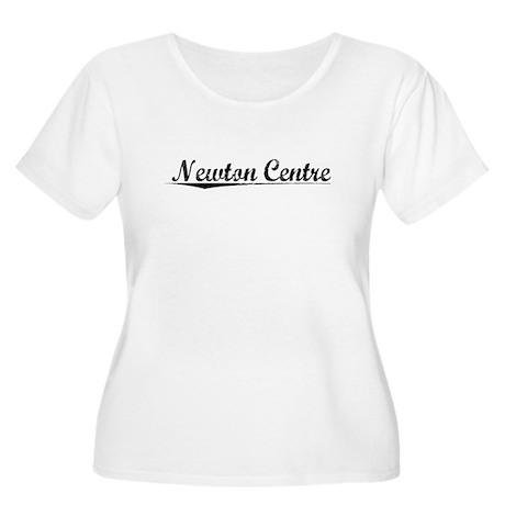 Newton Centre, Vintage Women's Plus Size Scoop Nec