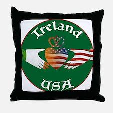 Ireland USA Connection Claddagh Throw Pillow