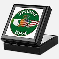 Ireland USA Connection Claddagh Keepsake Box