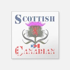 "Scottish Canadian Thistle Square Sticker 3"" x 3"""