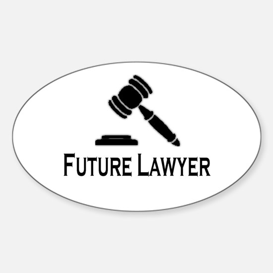 """""""Future Lawyer"""" Oval Decal"""