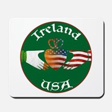 Ireland USA Connection Claddagh Mousepad