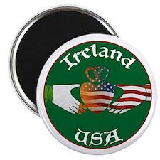"Ireland USA Connection Claddagh 2.25"" Magnet (100"