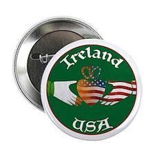 "Ireland USA Connection Claddagh 2.25"" Button"