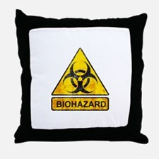 biohazard sign Throw Pillow