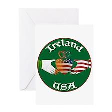 Ireland USA Connection Claddagh Greeting Card