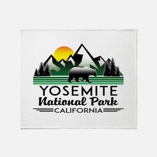 Yosemite National Park California Be Throw Blanket