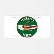 Ireland USA Connection Claddagh Aluminum License P