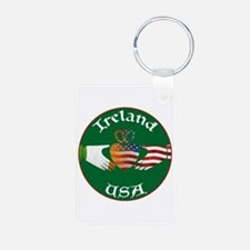 Ireland USA Connection Claddagh Keychains