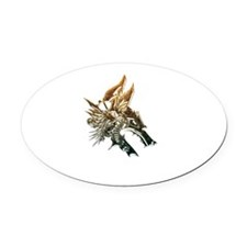 Industrial wolf Oval Car Magnet