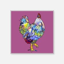 "Wild Hen! Square Sticker 3"" x 3"""