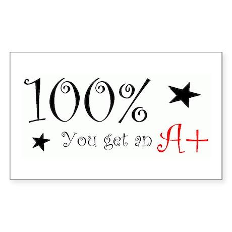 100% Rectangle Sticker