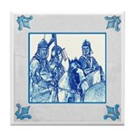 Delft English Civil War Cavalry Tile Coaster