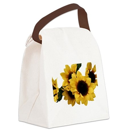 Yellow Sunflower Canvas Lunch Bag