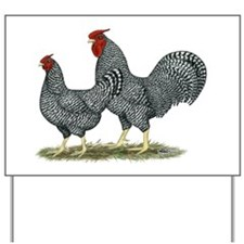 Dominique Chickens Yard Sign
