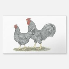 Dominique Chickens Decal