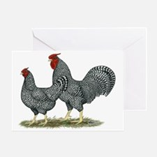 Dominique Chickens Greeting Card