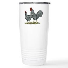 Dominique Chickens Travel Coffee Mug