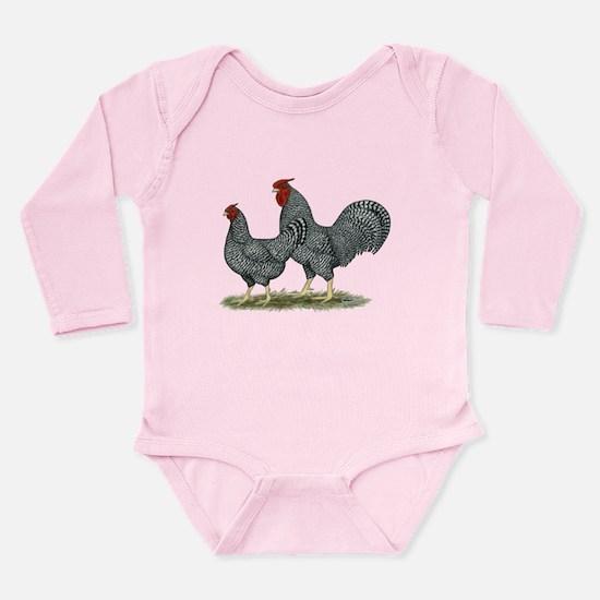 Dominique Chickens Long Sleeve Infant Bodysuit