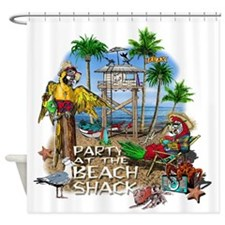 beachshack8b.png Shower Curtain