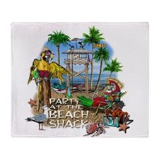 beachshack8b.png Throw Blanket